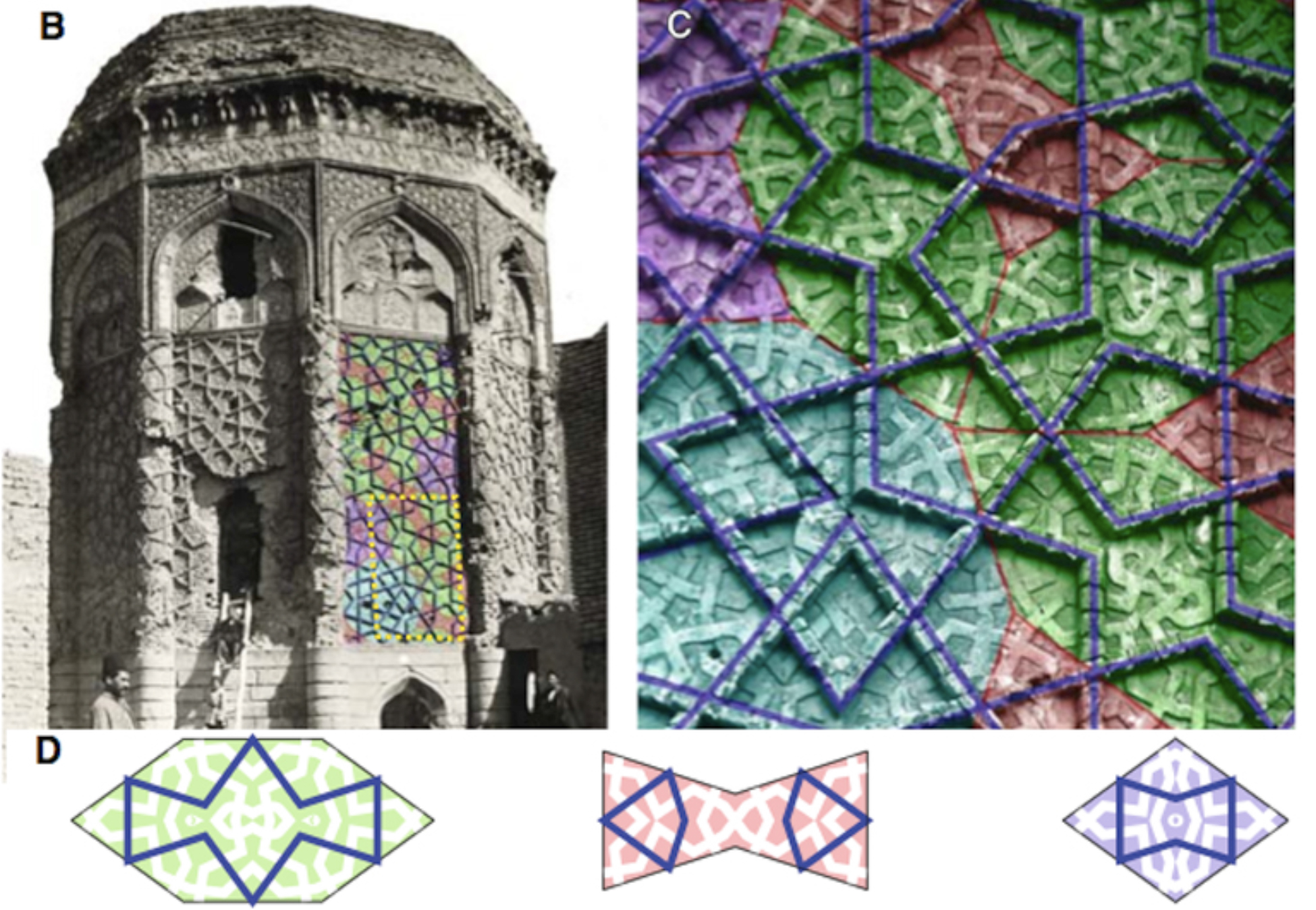 Data clay projects digital islam penrose tiling system analysis of tiling at gunbad i kabud tomb tower maragha iran lu p 2007 steinhardt p decagonal and quasi crystalline tilings in medieval islamic dailygadgetfo Images